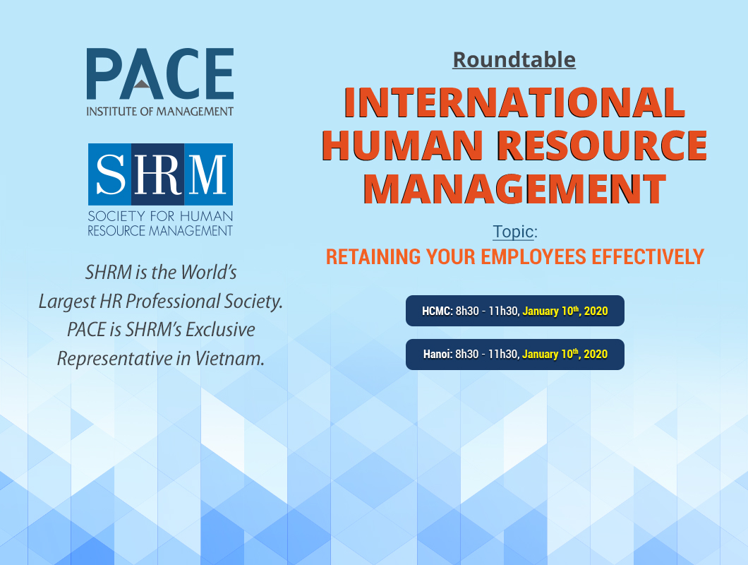 INFO SESSION: INTERNATIONAL HUMAN RESOURCE AT HCMC & HANOI – 01/2020